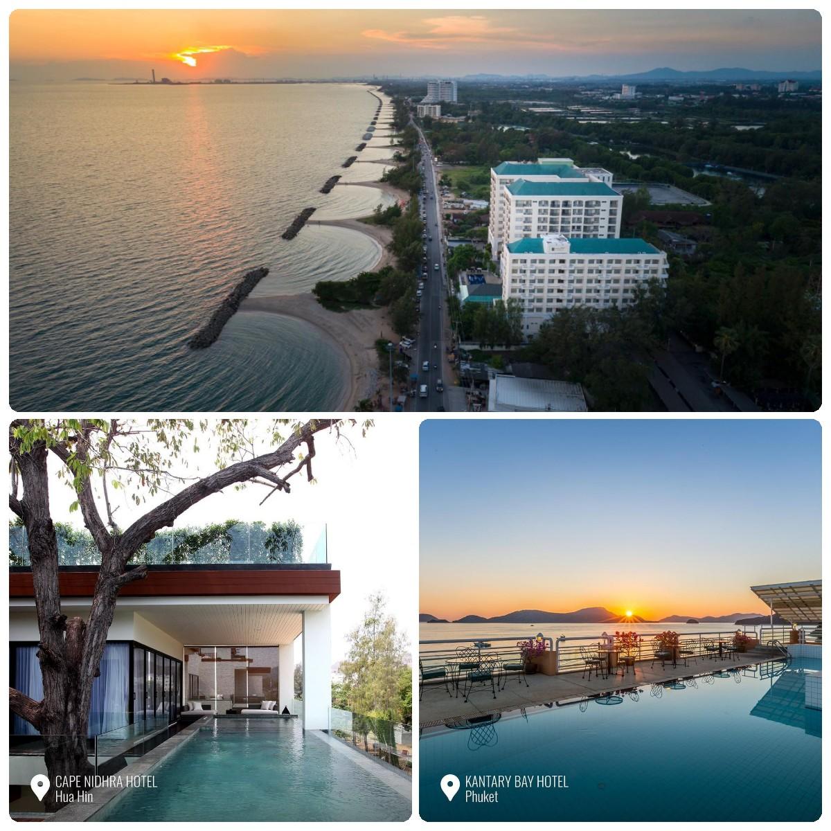 โรงแรมในเครือเคป แอนด์ แคนทารี โฮเทลส์ ทั้ง 23 แห่งทั่วประเทศไทย